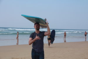 Martin came from surfing