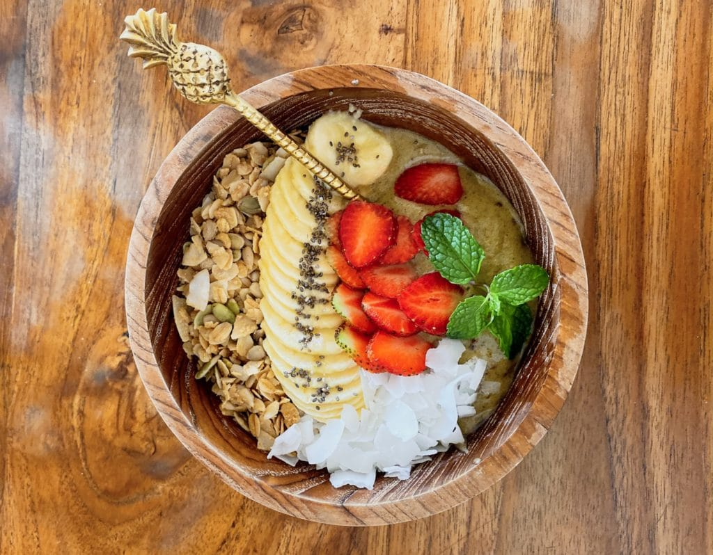 Yummy smoothie bowl at The Loft in Canggu
