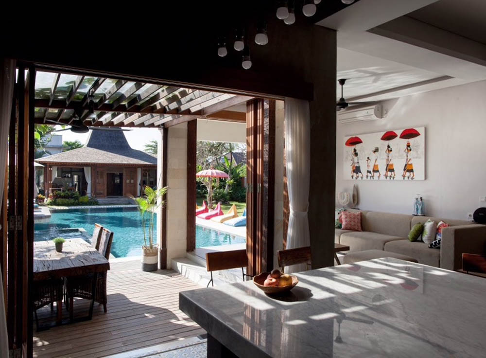 Comfortable working area for digital nomads in Canggu Bali